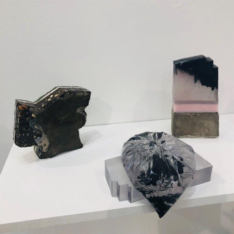 Photos of students' work on display at Bucks New University's Art & Design Summer Show courtesy Bucks New University