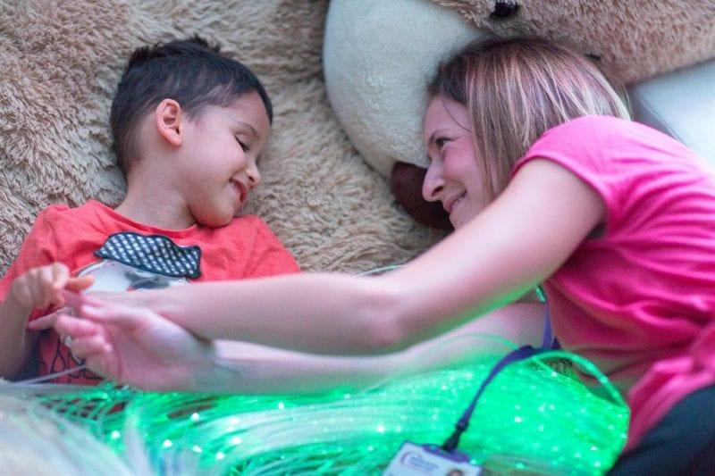 Nurse Francesca with patient Riley