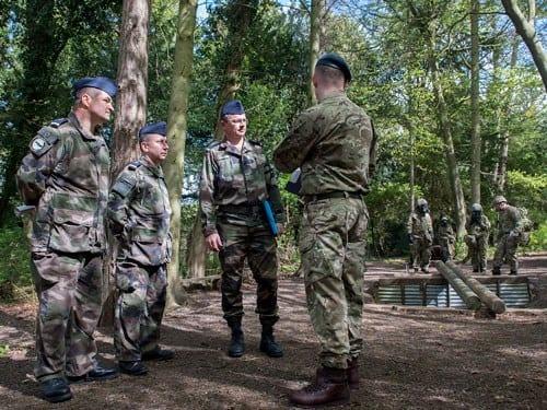 French Air Force Instructors Visit RAF Halton Airmen's Command