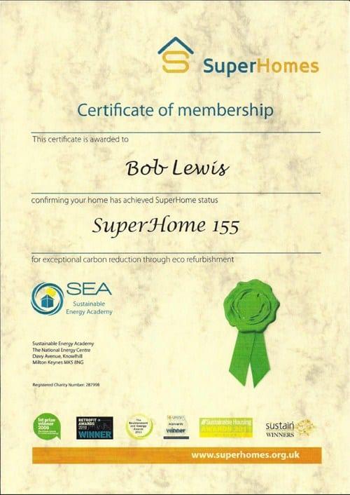 The Superhome certificate