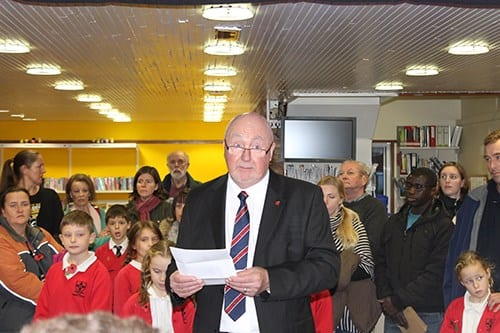 Vaughan Davies, an enthusiastic volunteer at the Library, explains the scope of the project.