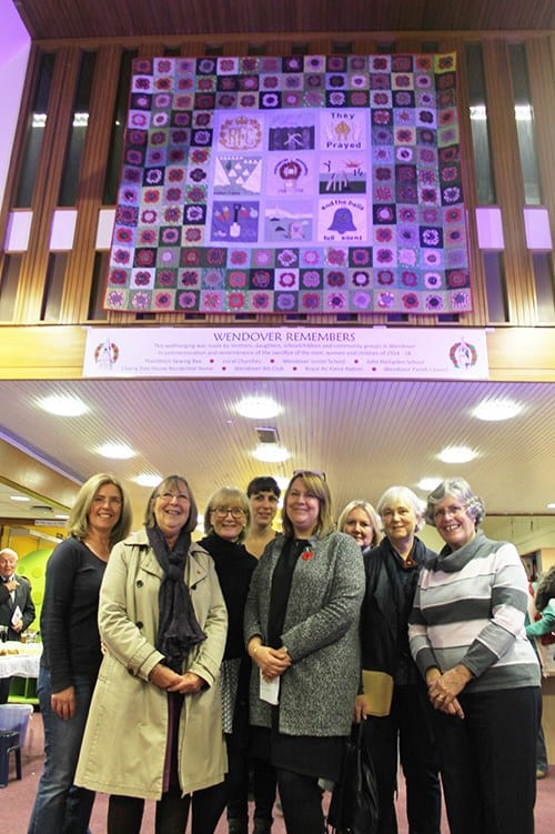 Members of Wendover Sewing Bee who were able to attend on Friday 11 November 2016. Many sewed blocks