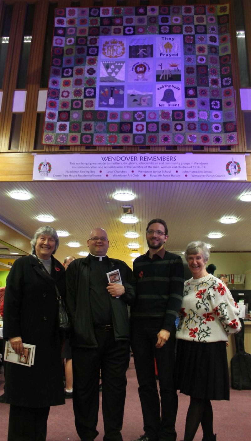 Representatives of the three churches in Wendover which contributed ideas for blocks.