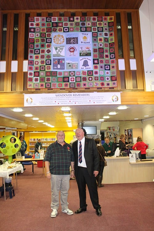 Tony Richards helped Vaughan with the actual installing of the wallhanging and sought the donation to FOWL for the sign by the Buckinghamshire Masonic Golf Club who funded it in its entirety.
