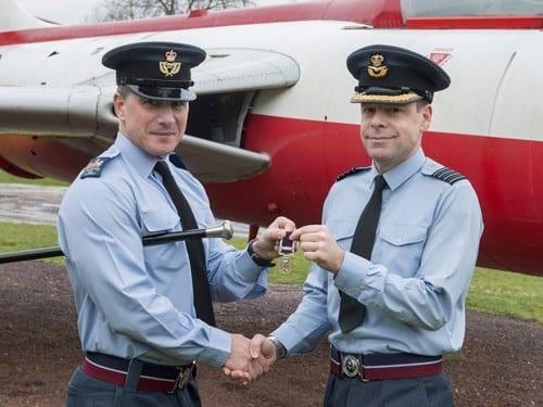 RAF Halton Station Commander receives long service and good