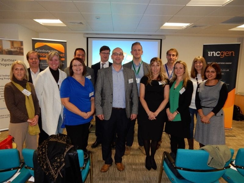 Some attendees and speakers from the January meeting.