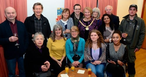 Country Parks volunteers from south Buckinghamshire meet Chairman Val Letheren