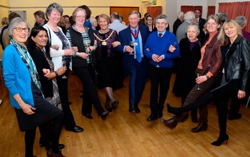 Simply Walk volunteers from the Wycombe and south Buckinghamshire areas meet Chairman Val Letheren