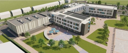St Michael's School satellite: artist's impression of the building 1
