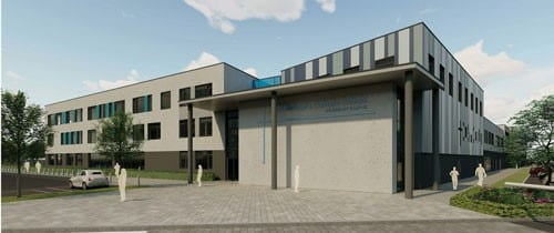 St Michael's School satellite: artist's impression of the building 2, photos courtesy Buckinghamshire County Council