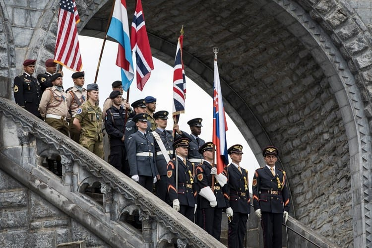 Photos are of Cpl Jacks, RAF Halton, reading at the UK Closing Mass, and also NCO ic of the National Standard party at the Closing Ceremony and with his team of SATTs at the International Military Pilgrimage at Lourdes, France; photo credit SAC Katrina Knox, RAF Lossiemouth.