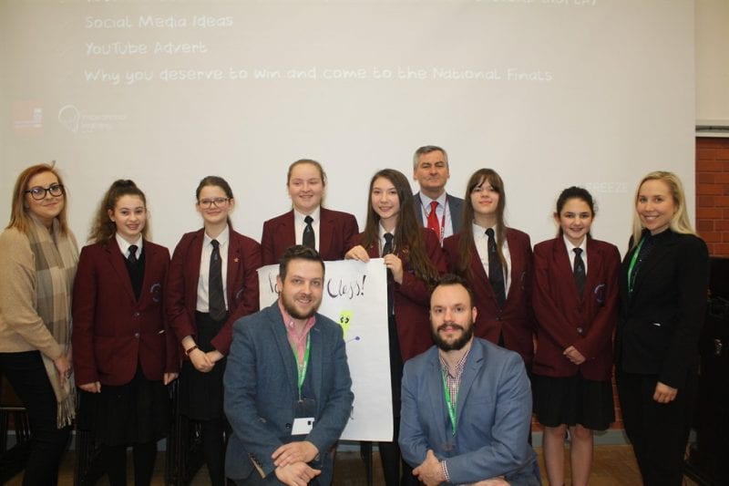 The Year 9 students who won the school Ryman Enterprise Challenge. They will be representing the school in the National Enterprise Final that takes place in Telford on 4 July. Photo courtesy John Colet School.