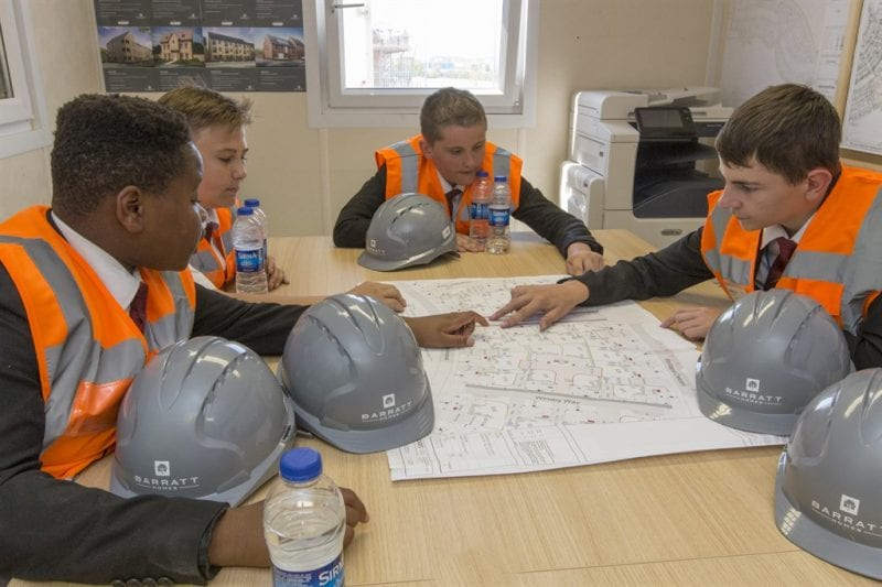 Students were able to look at the plans for the development