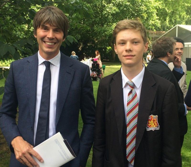 Chris Glazier with Prof Brian Cox