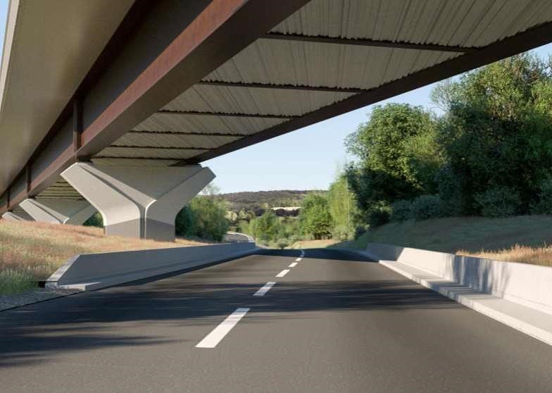 Viaduct at Small Dean, artist's impression.