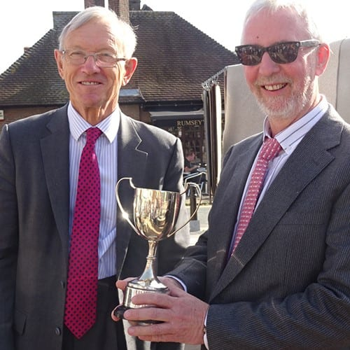 The Michaelis Cup presented to Council Chairman Tom Walsh