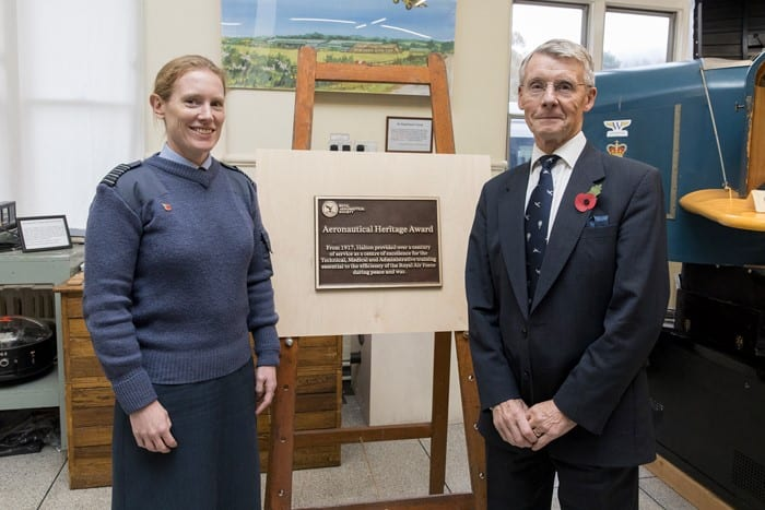 Station Commander, Group Captain Katherine Wilson, with Air Commodore (retd) Bill Tyack