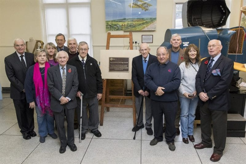 Group image with the museum staff. All images are Crown Copyright.
