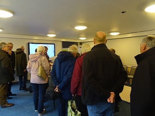 Crowds visited the Public Exhibition in Wendover Library Room on Friday 30 November and Saturday 1 December.