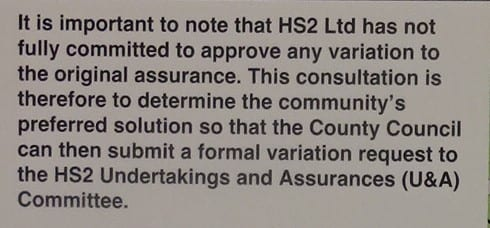 Caveat from Buckinghamshire County Council. This refers to all three boards offering the active options.