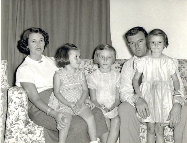 Gladys and family. Images courtesy the Evans family.
