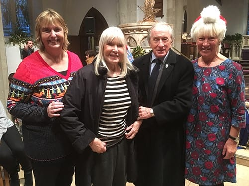 Sian Chattle, chair of WDAA, with Lady Helen and Sir Jackie Stewart and Sylvia Oram, dementia champion.