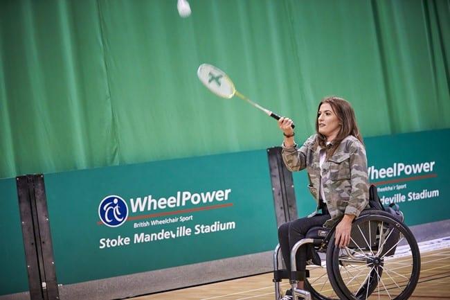 Wheelchair badminton in 2018. Images courtesy Wheelpower.