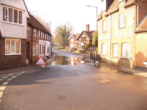 Flooding in the Church Street / Missenden Road area of Chesham in 2014