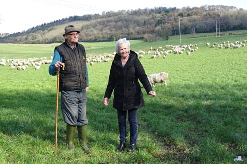 Tony and Mary after the sheep run in February 2016
