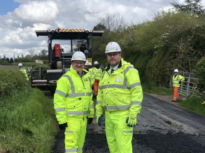 Mark Shaw and Paul Irwin visit the start of the TfB resurfacing programme at Slapton