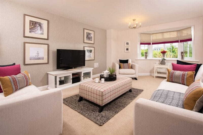 A typical living room in a property at Brooklands