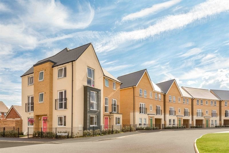 A typical Barratt Homes street scene. Images courtesy Barratt/David Wilson Homes.