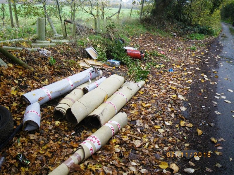 The waste left behind. Images courtesy Waste Partnership for Buckinghamshire.