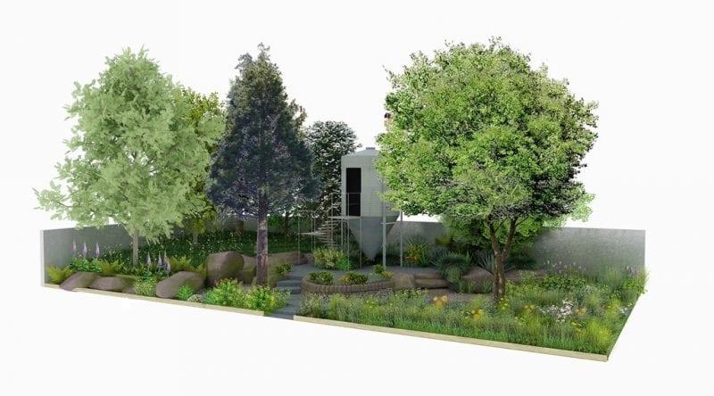 A model of the garden. Copyright Katerina Rafaj.