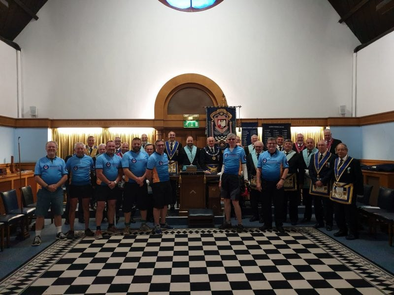 Day 1 - The riders were greeted by Bucks APGM Phil Blacklaw at Stephens Lodge no 3089