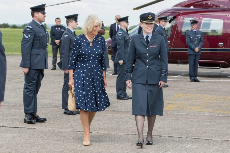 HRH with Station Commander Group Captain Katherine Wilson, OBE.