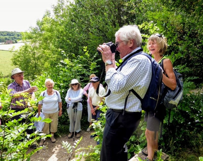 Chairman Brian Roberts joins the 17th anniversary walk at Hughenden Manor