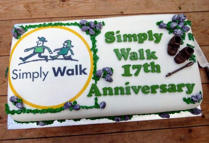 Simply Walk anniversary cake