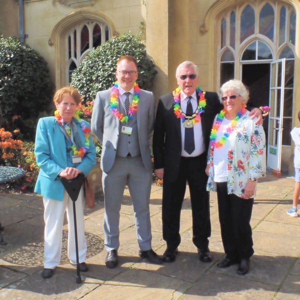 In the picture (L-R): Netta Glover (Deputy Cabinet Member for Children's Services), Warren Whyte (Cabinet Member for Children's Services), Brian Roberts (Chairman, Buckinghamshire County Council) and his wife, Margaret.