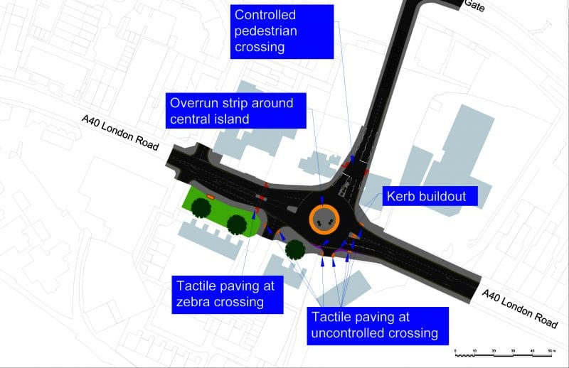 Gordon Road junction: diagram shows the work planned