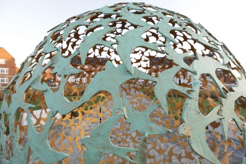 Kingsbrook Public Art - close-up view