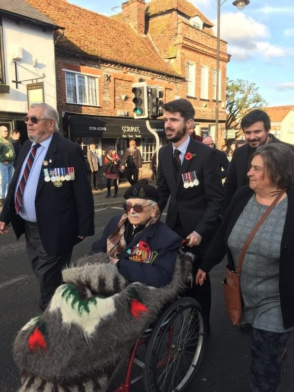 Ted with his family on Remembrance Sunday 2019