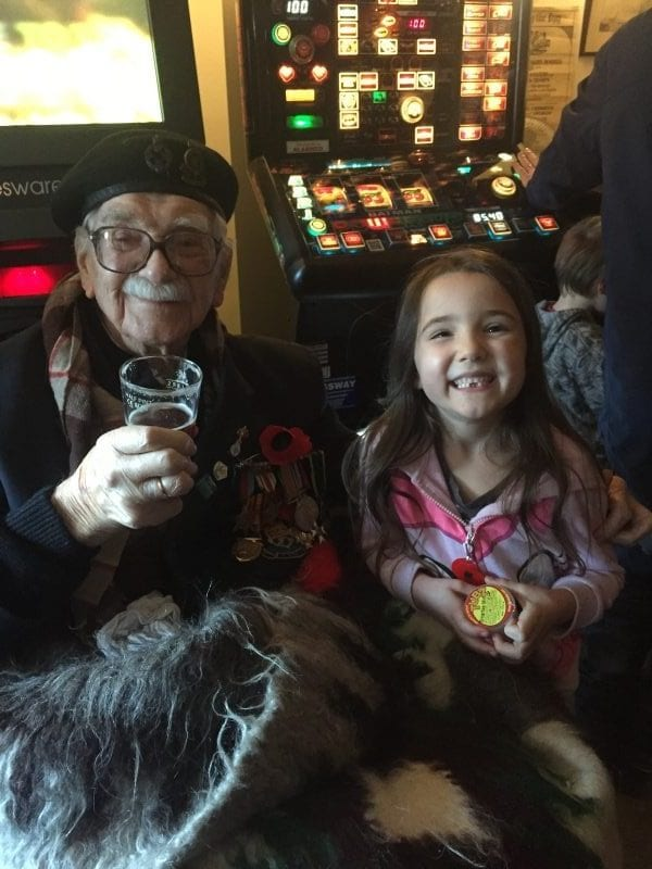 Ted with his great-granddaughter