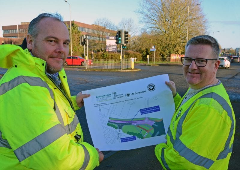 Fowler Road widening plans: Mark Shaw and Paul Irwin visit the junction