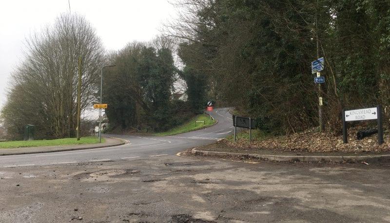 Abbey Barn Lane junction with Kingsmead Road edit