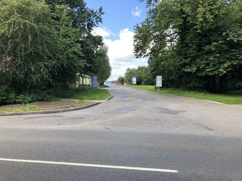 Wycombe Air Park entrance: improvements to the junction