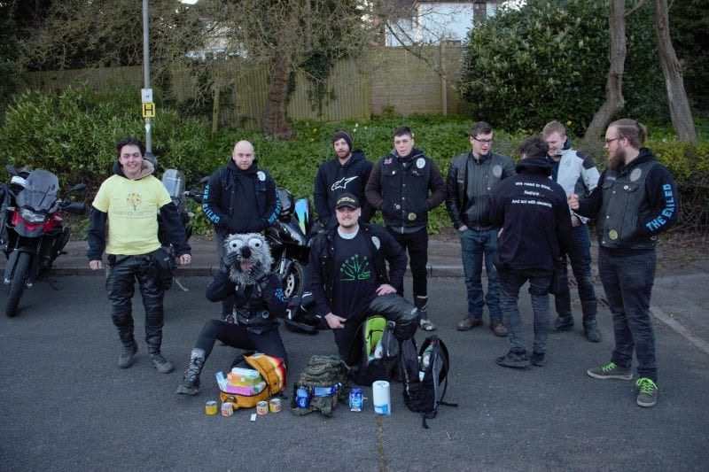 Exiled Biker members (before social distancing required)