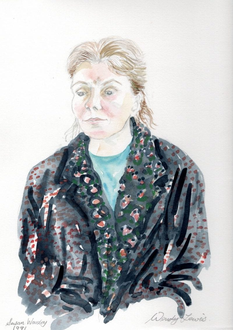 Wendy's watercolour painting of Susan
