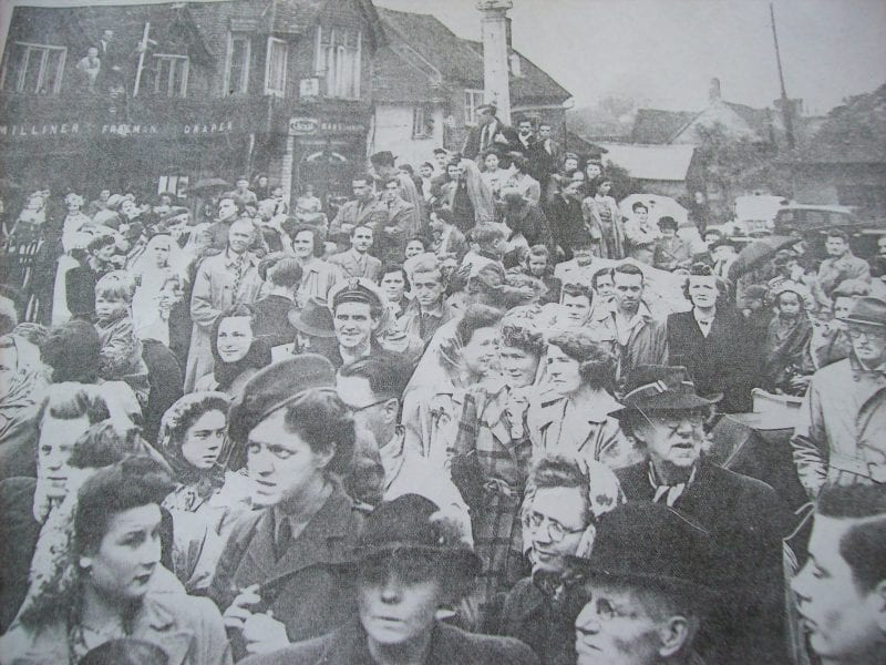Manor Waste, Wendover, on VE Day 1945