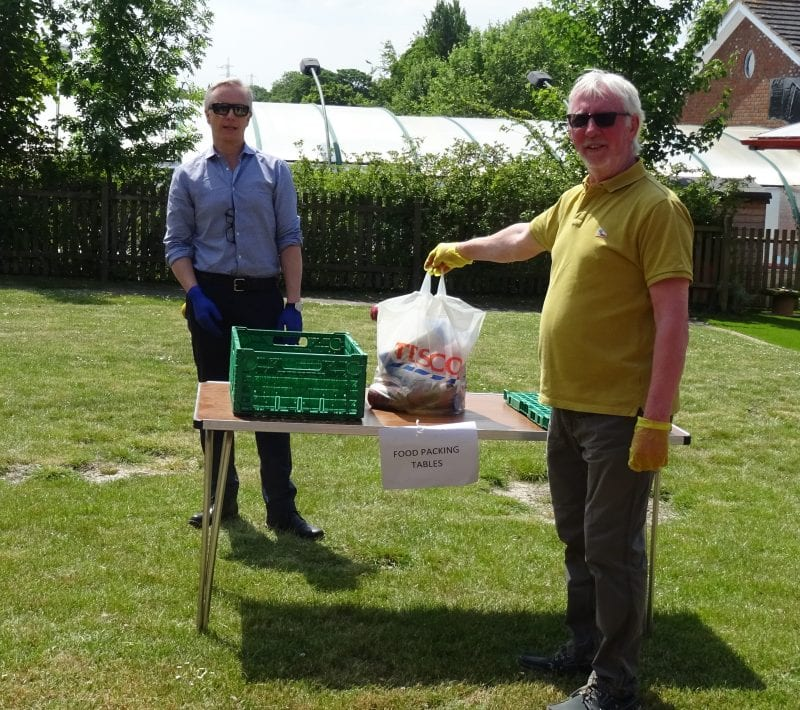 Rob Butler MP with Tom Walsh, Chairman of Wendover Parish Council